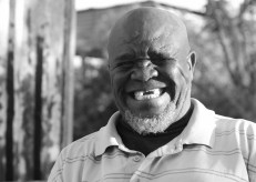 Ntate Serame, the former gardener at Tolamo Primary. He is one of the most gentle people I have ever met. There were always kittens and dogs and geese and children running around his yard.