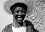 An older female relative that stays at Mpho Kgokane's compound - aunt? mother? grandmother?