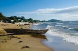 Waves crash to shore at Senga Bay.