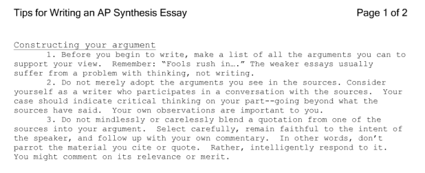 how to write a good synthesis essay  mistyhamel ap lang synthesis essay examples creativecard co