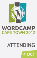 I'm attending WordCamp Cape Town 2012!