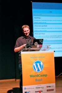 Matt Mullenweg no WordCamp Brasil
