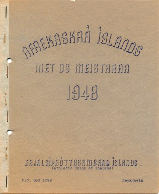 Afrekaskrá Íslands – Met og meistarar 1948