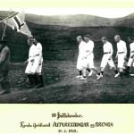 Keppendur á fyrsta mótinu 1918