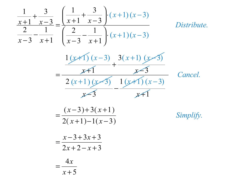 Complex Rational Expressions