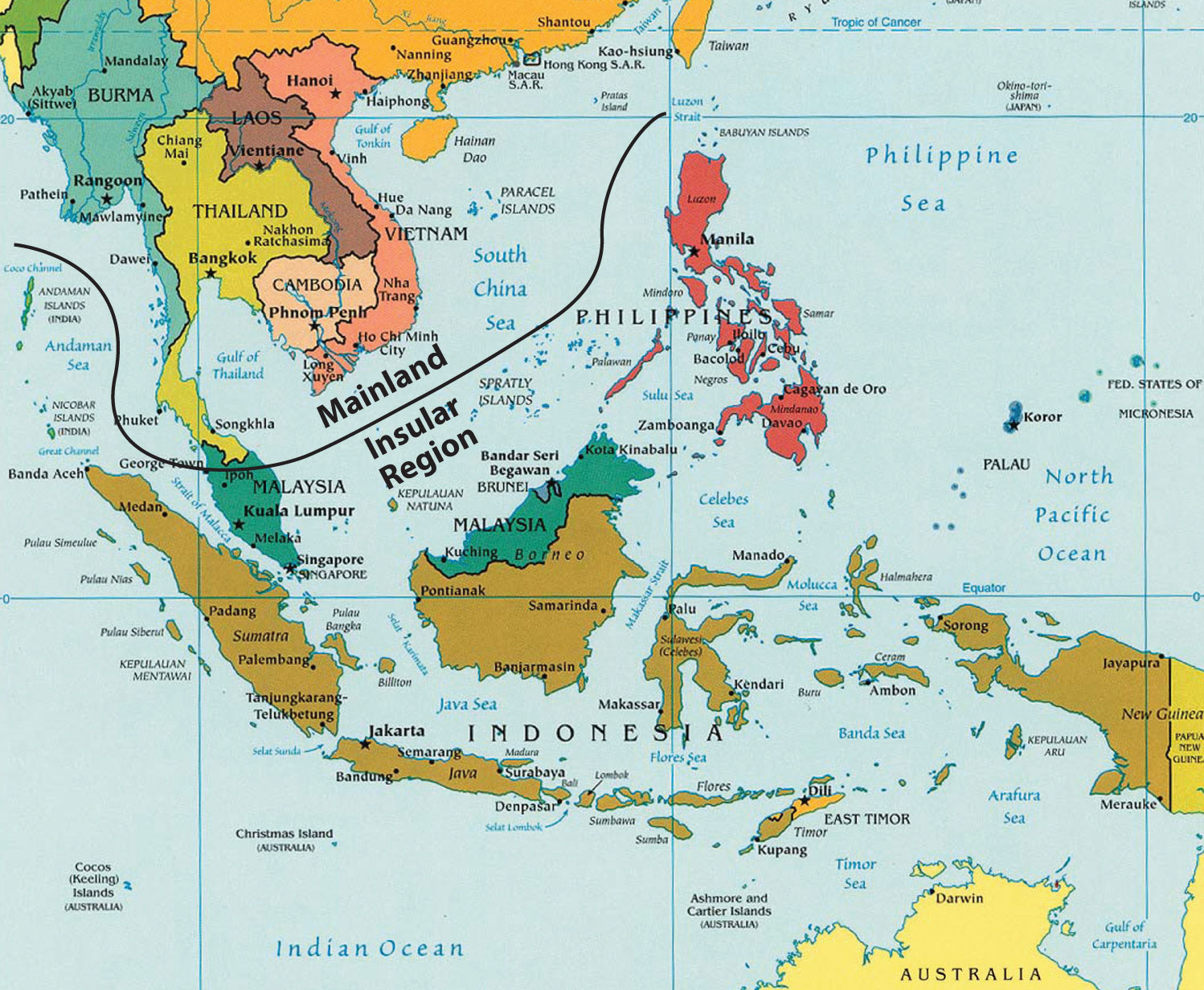 Land Of Southeast Asia