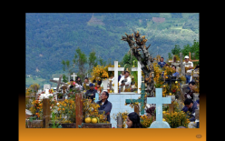 Celebración dia de muertos panteon Federico Villanueva