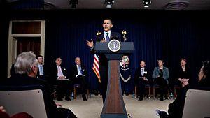 President Barack Obama at the Fiscal Responsib...