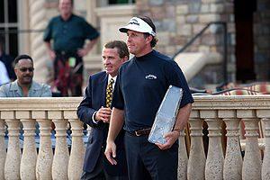 PGA Tour commissioner Tim Finchem and Phil Mic...