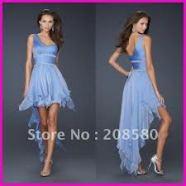 front back dress blue