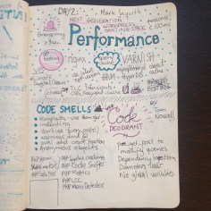 #WCEU talks sketch notes: Mark Jaquith and Tom Nowell. Kristin Kokkersvold, Studio Netting