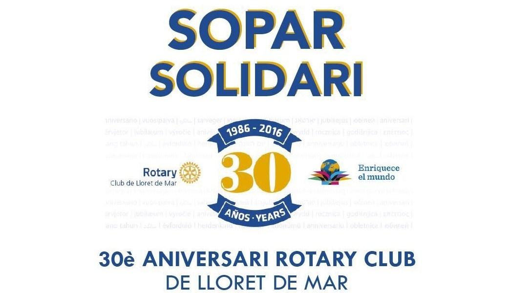Sopar Solidari Rotary Club Lloret de Mar