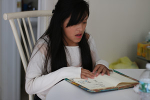 Marlene says learning Mixtec is hard at first, but it gets better as she keeps learning.