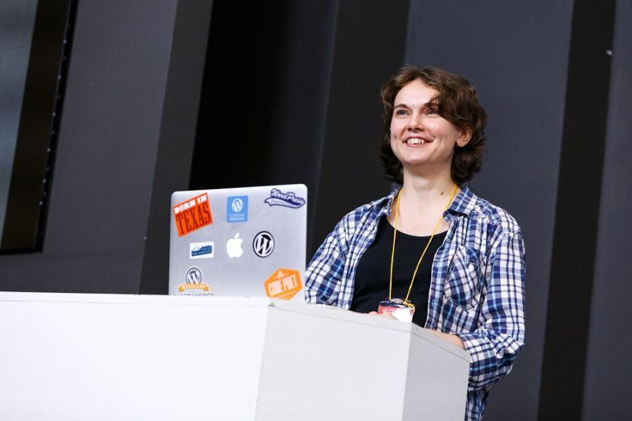 Анна Ладошкина на конференции WordCamp Russia