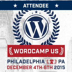 WordCamp US 2015 Attendee Badge