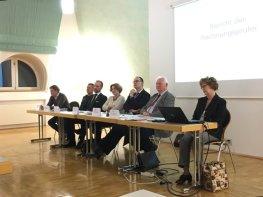 Unser Vorstand bei der Mitgliederversammlung 2015. Quelle: Archiv M. Geißler