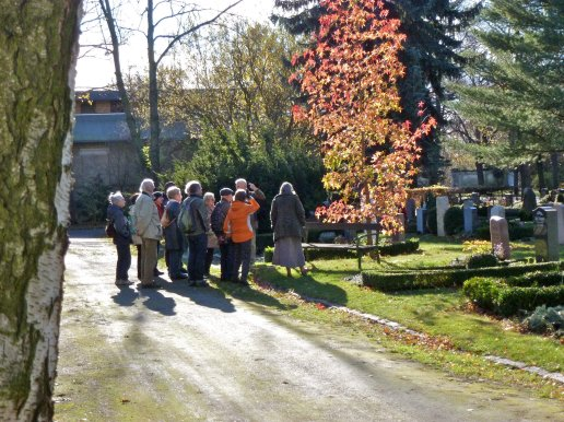 Der Nordfriedhof im Herbst; Foto: M. Geißler