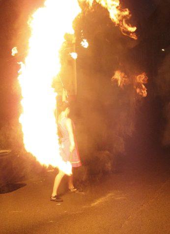 25. Großes Funkenburgfest, Feuershow mit A. Sarrazin, Foto: I. Pietrowski