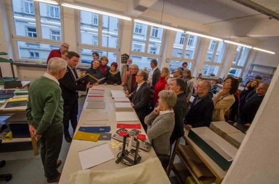 Die Buchbinderei der DZB; Foto: Andreas Reichelt