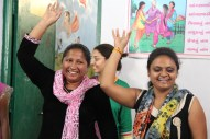 Women dancing during workshop