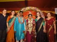 Jamie attending an Indian wedding.