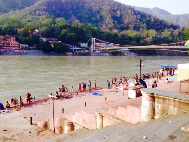 The view of the Ganga cleansing people. Photo by Morgan.