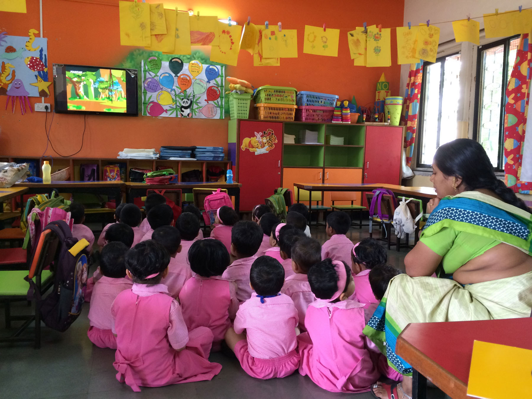 Photo: Jessica Chandras. Title: Sing Along in English: Doing English in Indian Classrooms