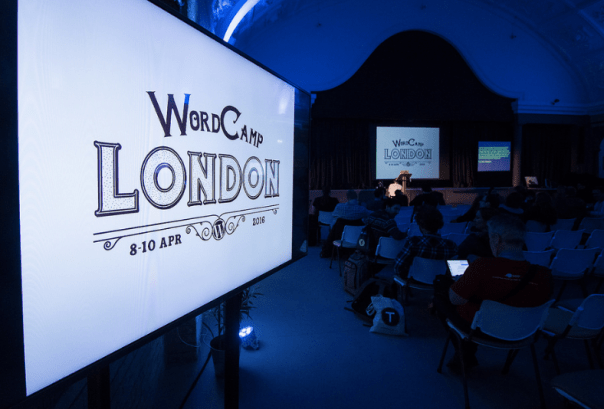WordCamp London 2016 Main Stage Opening day