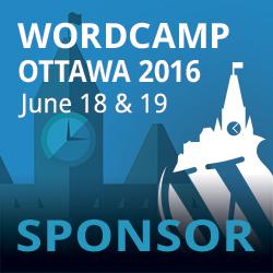 I'm sponsoring WordCamp Ottawa 2016
