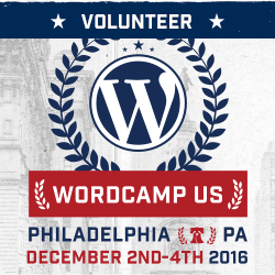 Proud to be a volunteer for WordCamp US 2016