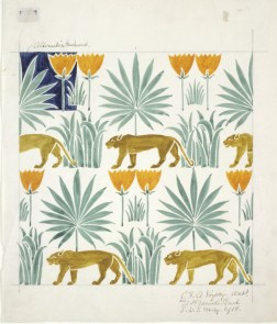 E.217-1974 Untitled design for wallpaper or textile; by Voysey