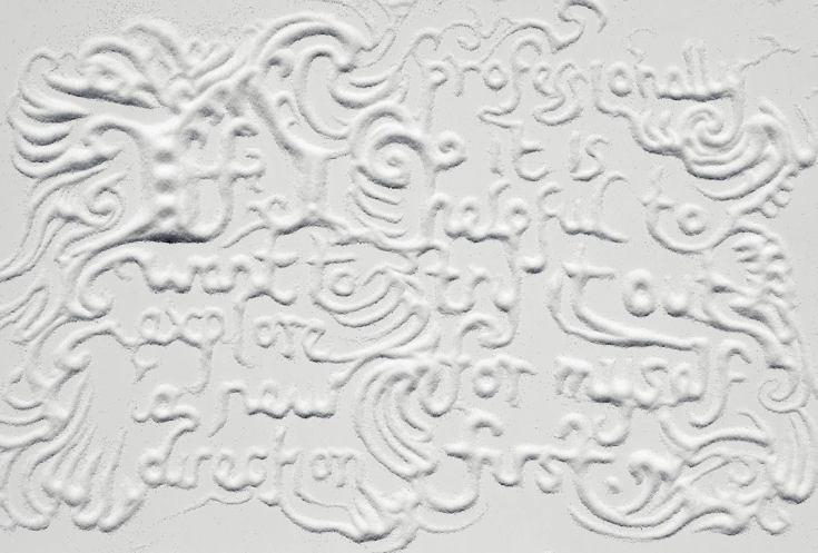 Letter's written in Sugar