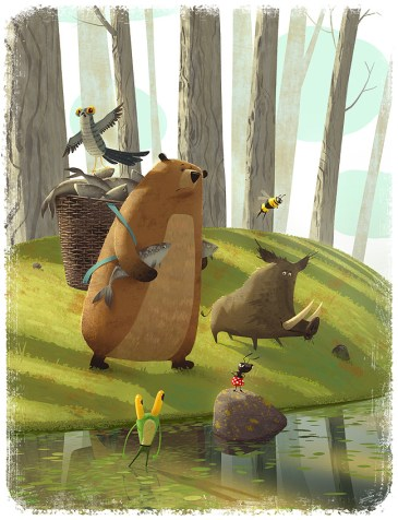 Forest animals preparing for war.