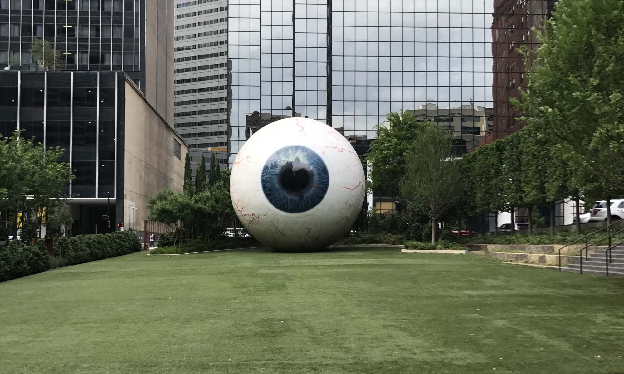 large eyeball sculpture in Dallas