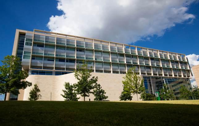 exterior of UNTHSC MET building