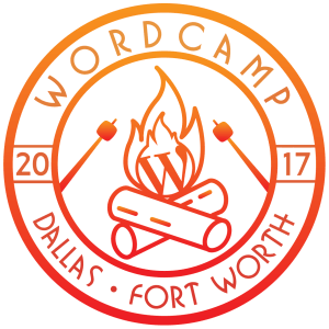 wordcamp 2017 logo with campfire and roasting marshmallows