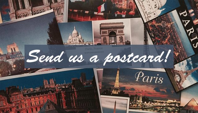 We want your postcard! ;)