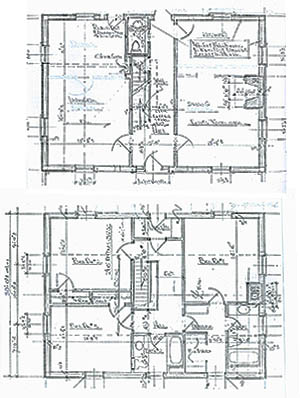 Vintage stone home plans from Tradition Home Designs