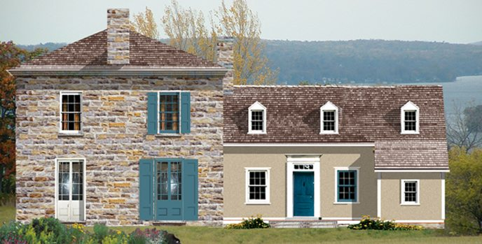 Vintage stone home from Tradition Home