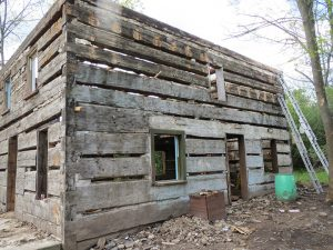 Vintage pioneer log homes from Tradition Design Inc.