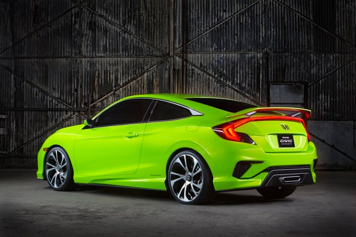 2017 Honda Civic Coupe rear view