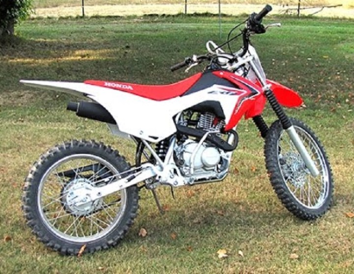 2016 Honda CRF125F rear view