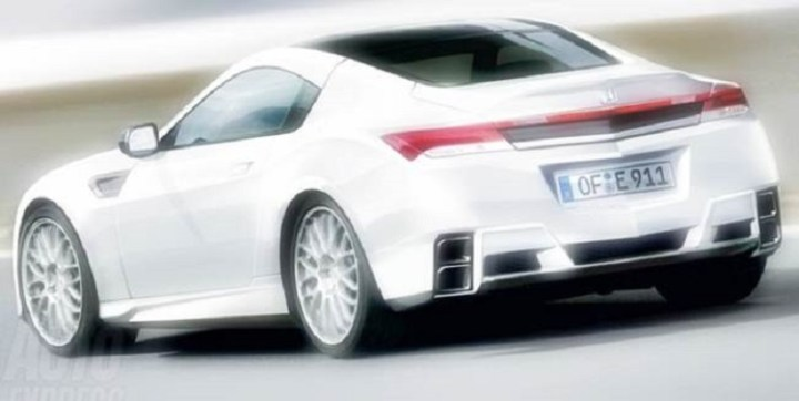 2017 Honda Prelude rear view