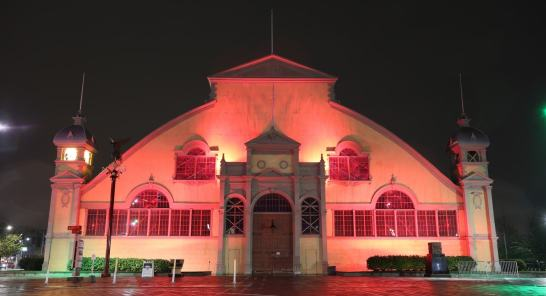 The Aberdeen Pavilion, FWD50 venue, at night