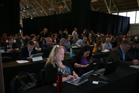 The FWD50 audience participates in a workshop on the first day of FWD50 2017