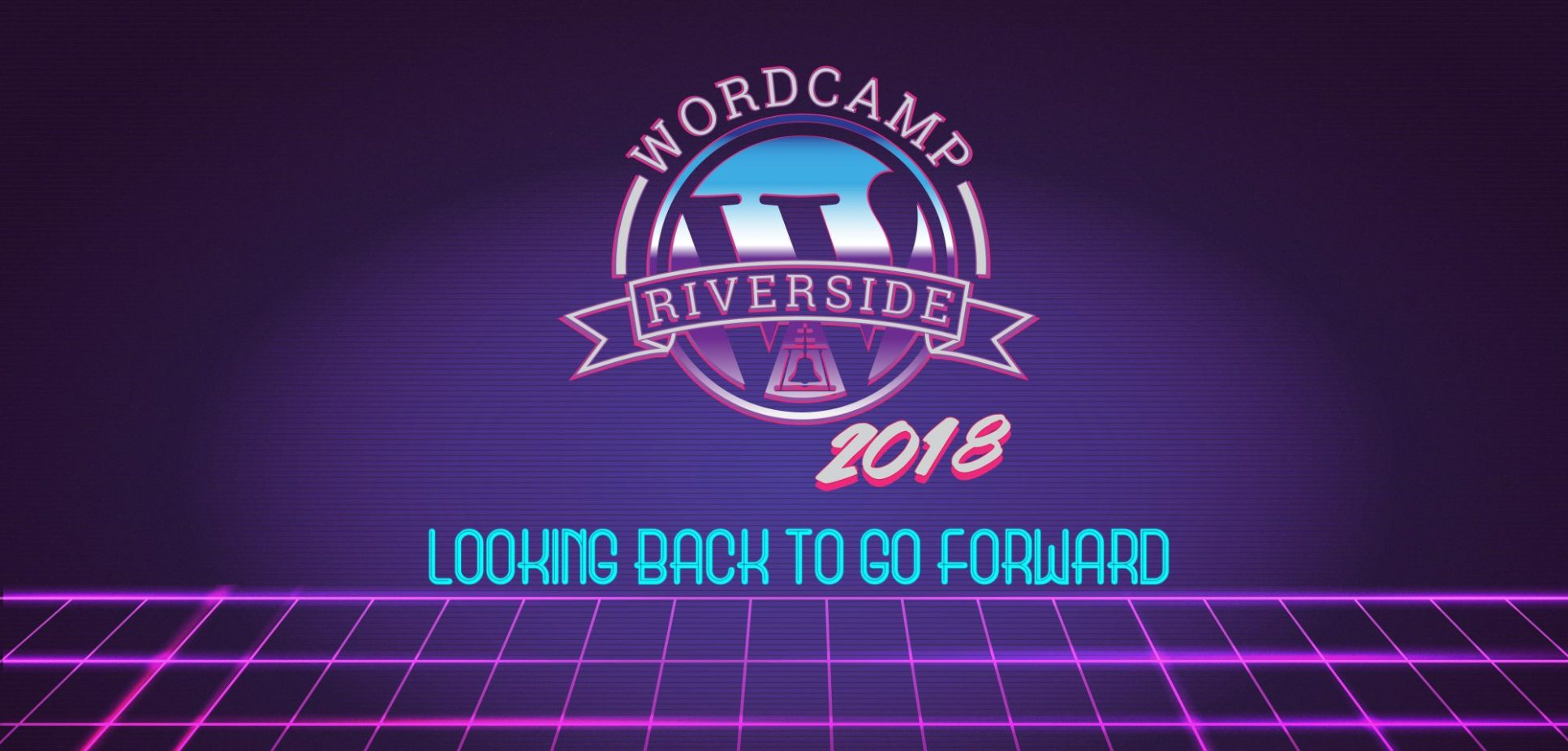 WordCamp Riverside 2018: Looking Back to Go Forward logo