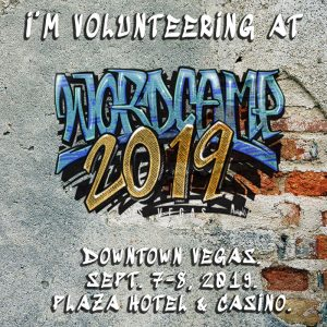 I am volunteering at WordCamp Las Vegas 2019″ title=