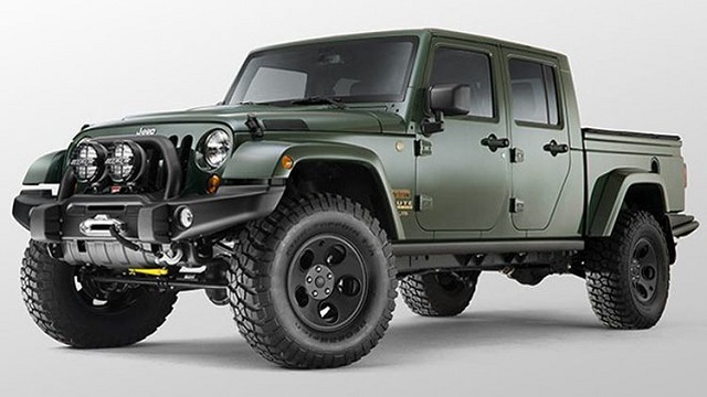 2018 Jeep Wrangler Pickup Truck Hybrid front view