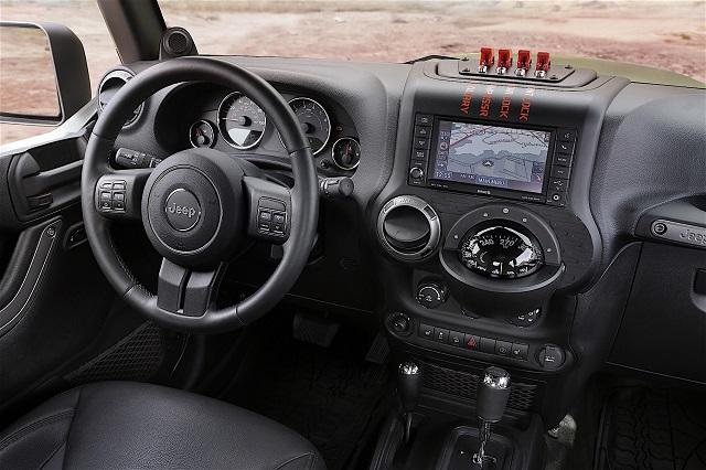 2018 Jeep Wrangler Pickup Truck Hybrid interior