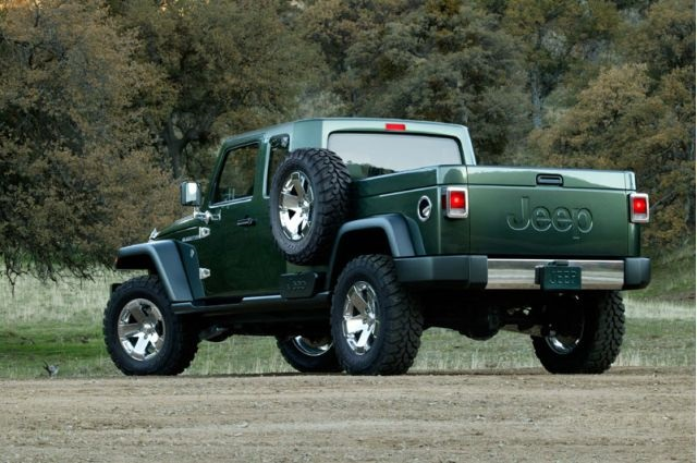 2018 Jeep Wrangler Pickup Truck Hybrid rear view